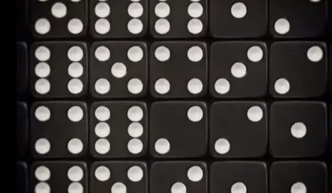 Pixelproza met dobbelstenen