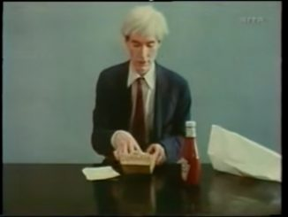Andy Warhol not rolling a joint