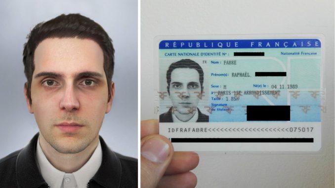 Raphaël Fabre, 3D hoofd voor op je ID-kaart